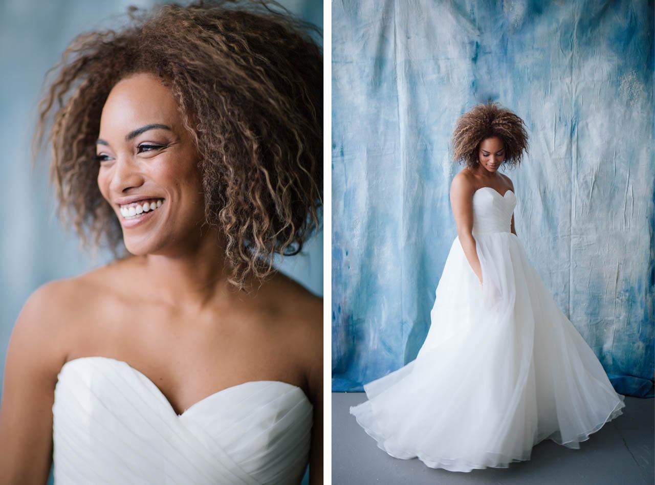 Modern studio bridals by Utah Wedding Photographer Claire Marika.
