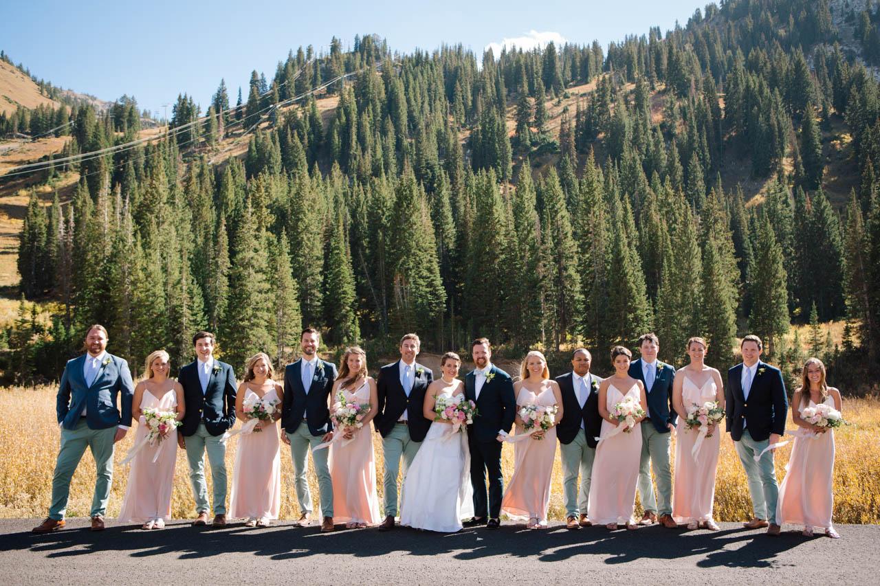 Mountain wedding group photos by Utah wedding photographer Claire Marika.