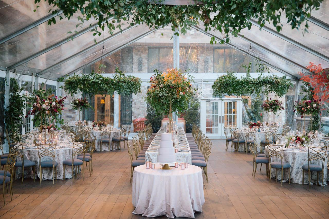 Elegant wedding reception at the St. Regis Park City.