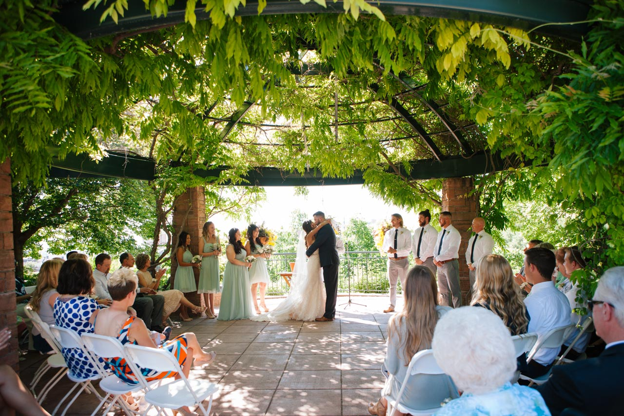 Wedding ceremony in the Fragrance Garden.