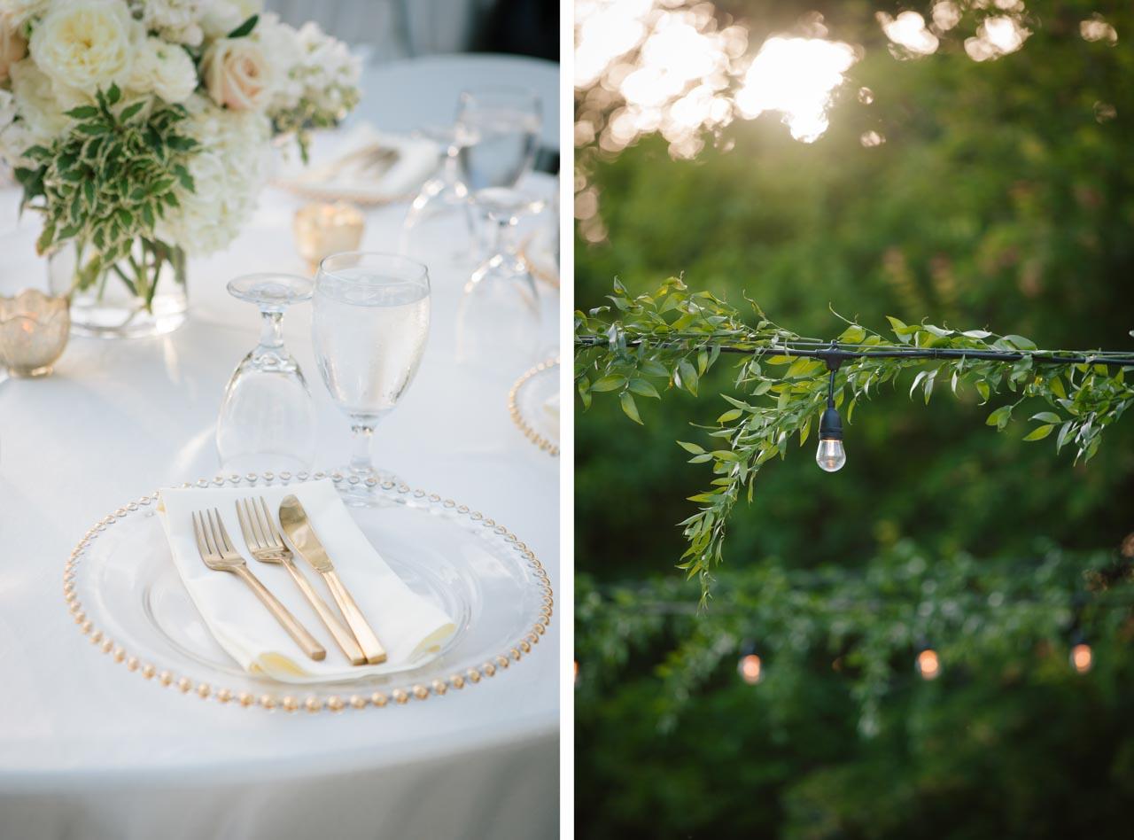 Wedding Reception decorations at Hidden Falls, Thanksgiving Point.