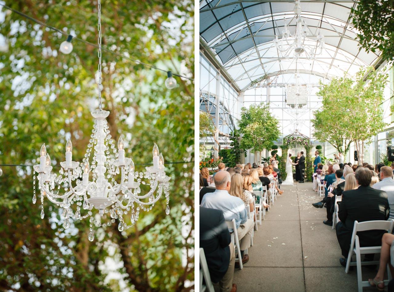 Greenhouse wedding at Cactus & Tropicals in Draper.