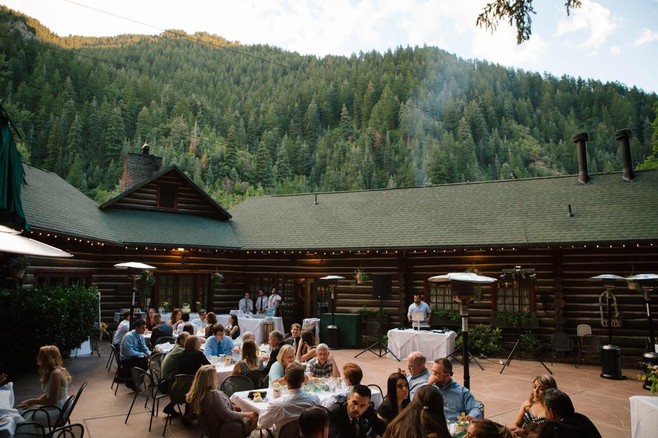 Wedding reception at Log Haven Restaurant.