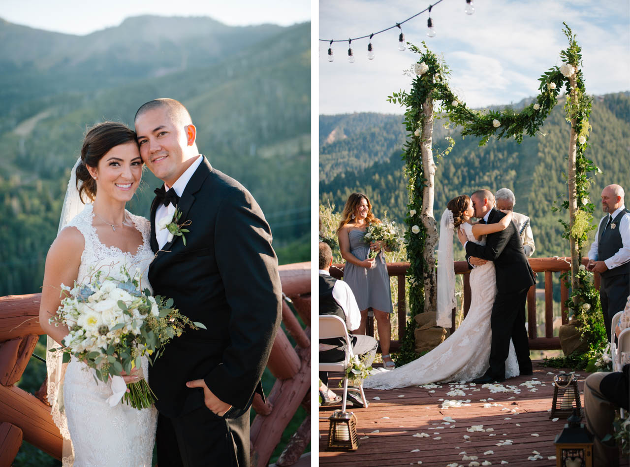 Wedding Ceremony at Lookout Cabin Park City.