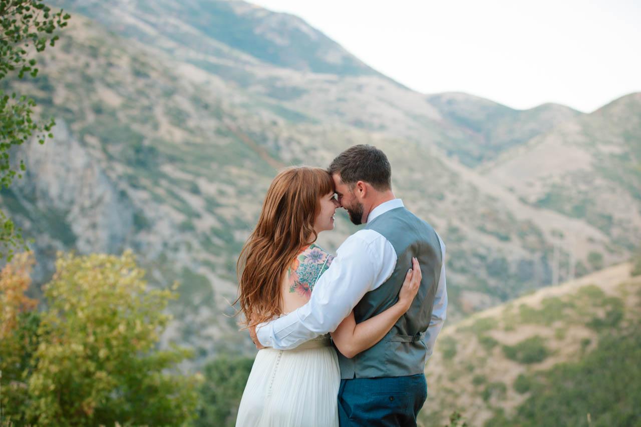 Newlywed Couple at Louland Falls.