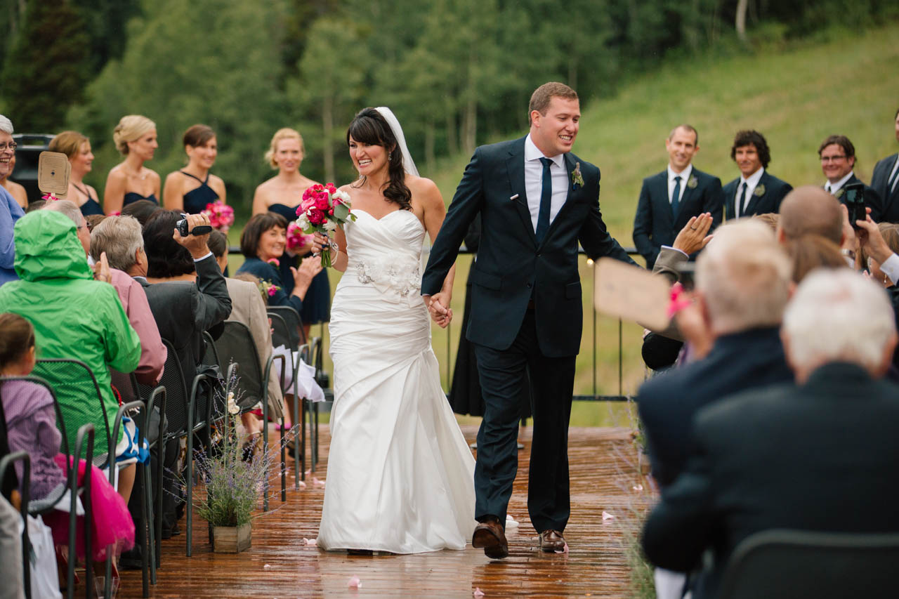 Wedding Ceremony at Mid Mountain Lodge.