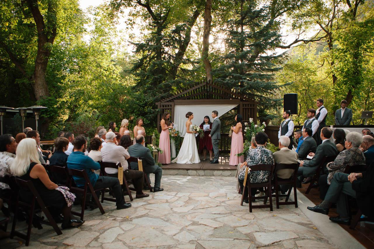 Outdoor ceremony at Millcreek Inn.