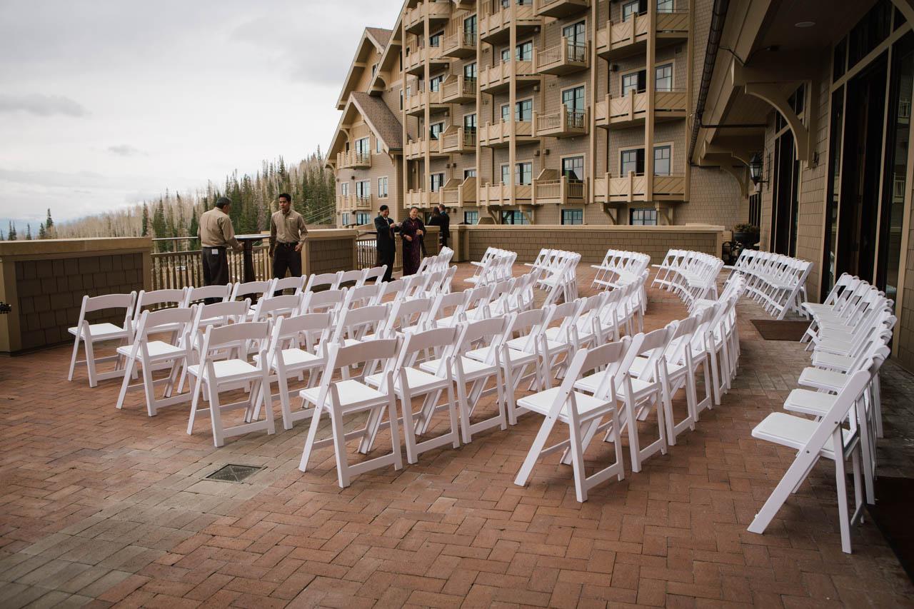 Montage Deer Valley wedding ceremony.