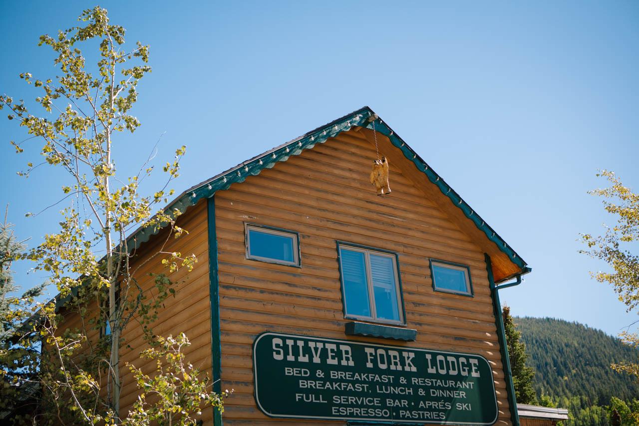 Silver Fork Lodge rustic wedding venue.