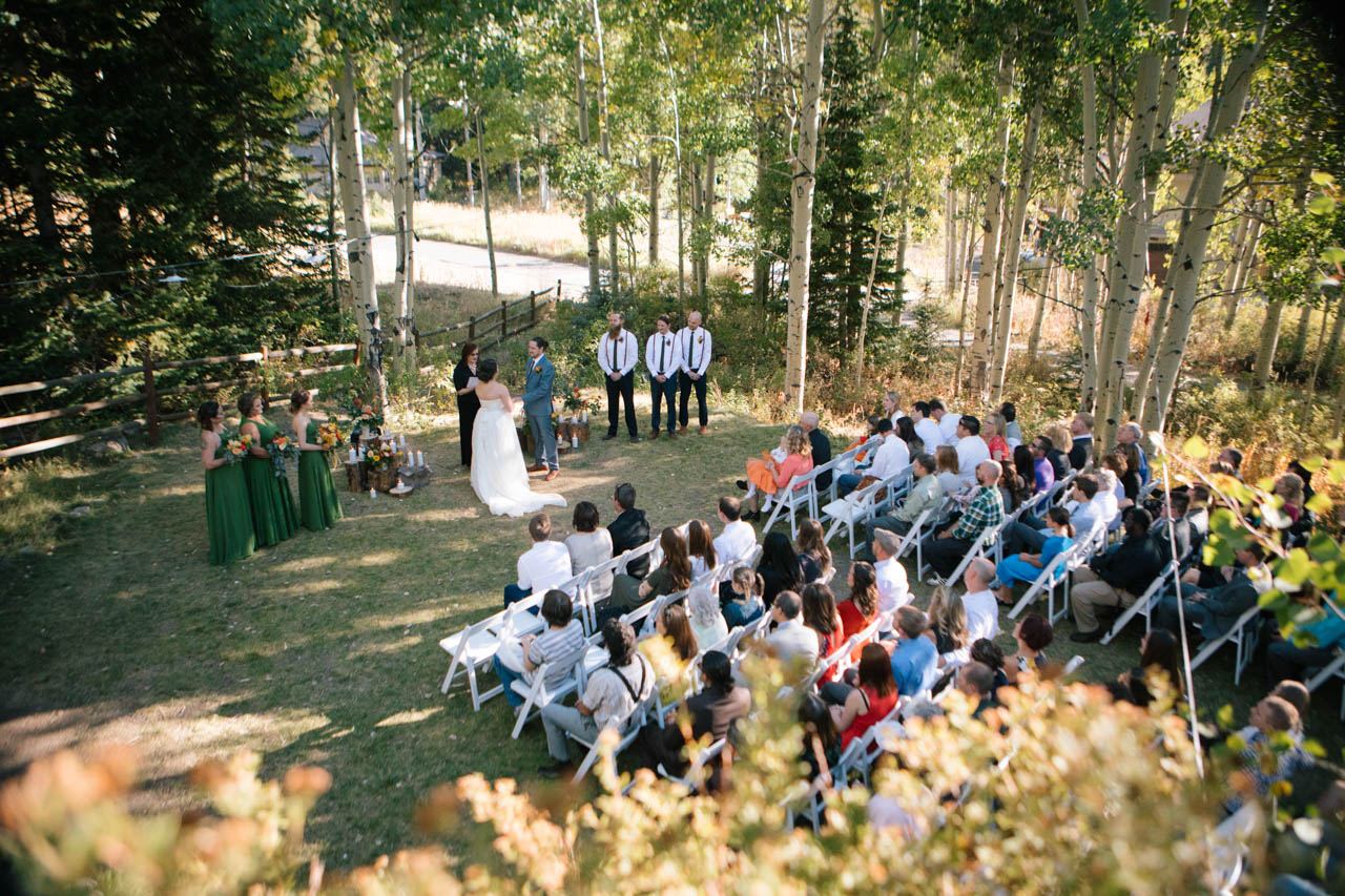 Outdoor wedding at Silver Fork Lodge.