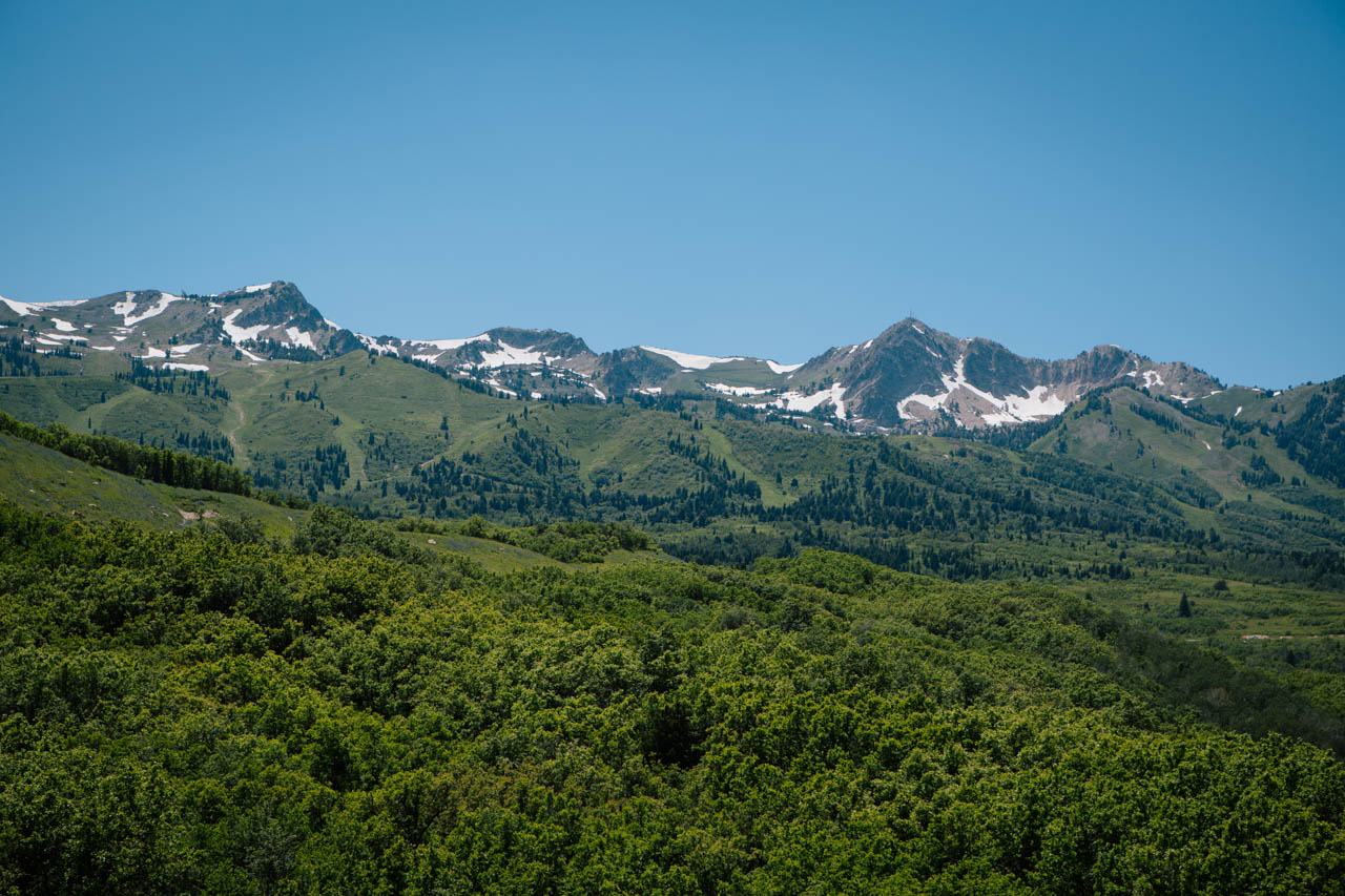 Beautiful mountain scenery at Snowbasin.