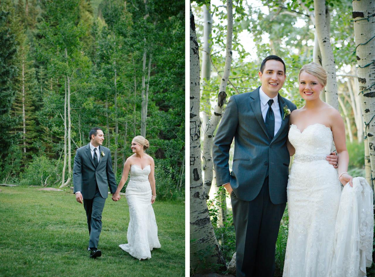 Wedding Couple at Snowbird.
