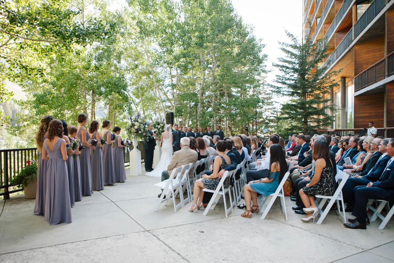 Magpie Terrace wedding ceremony at Snowbird.