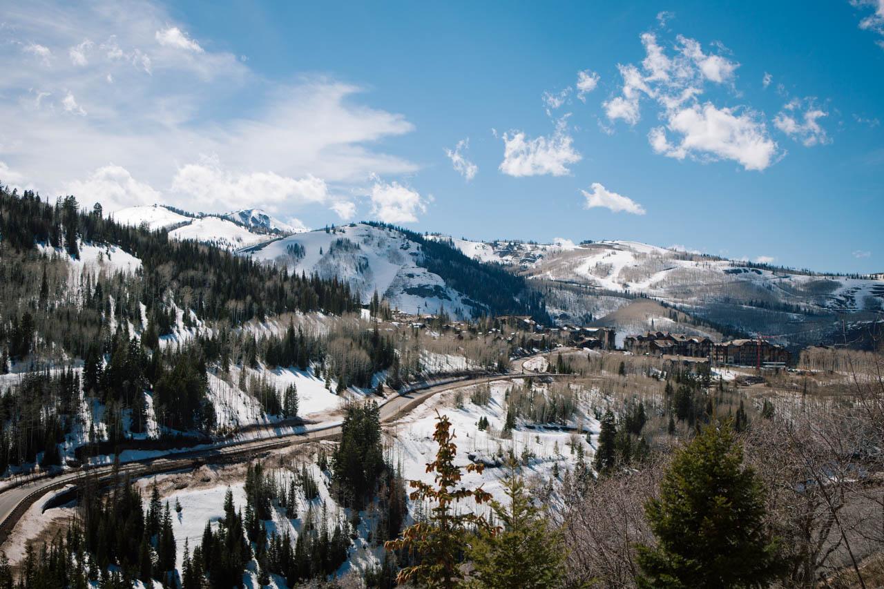 Snowy Deer Valley Utah.