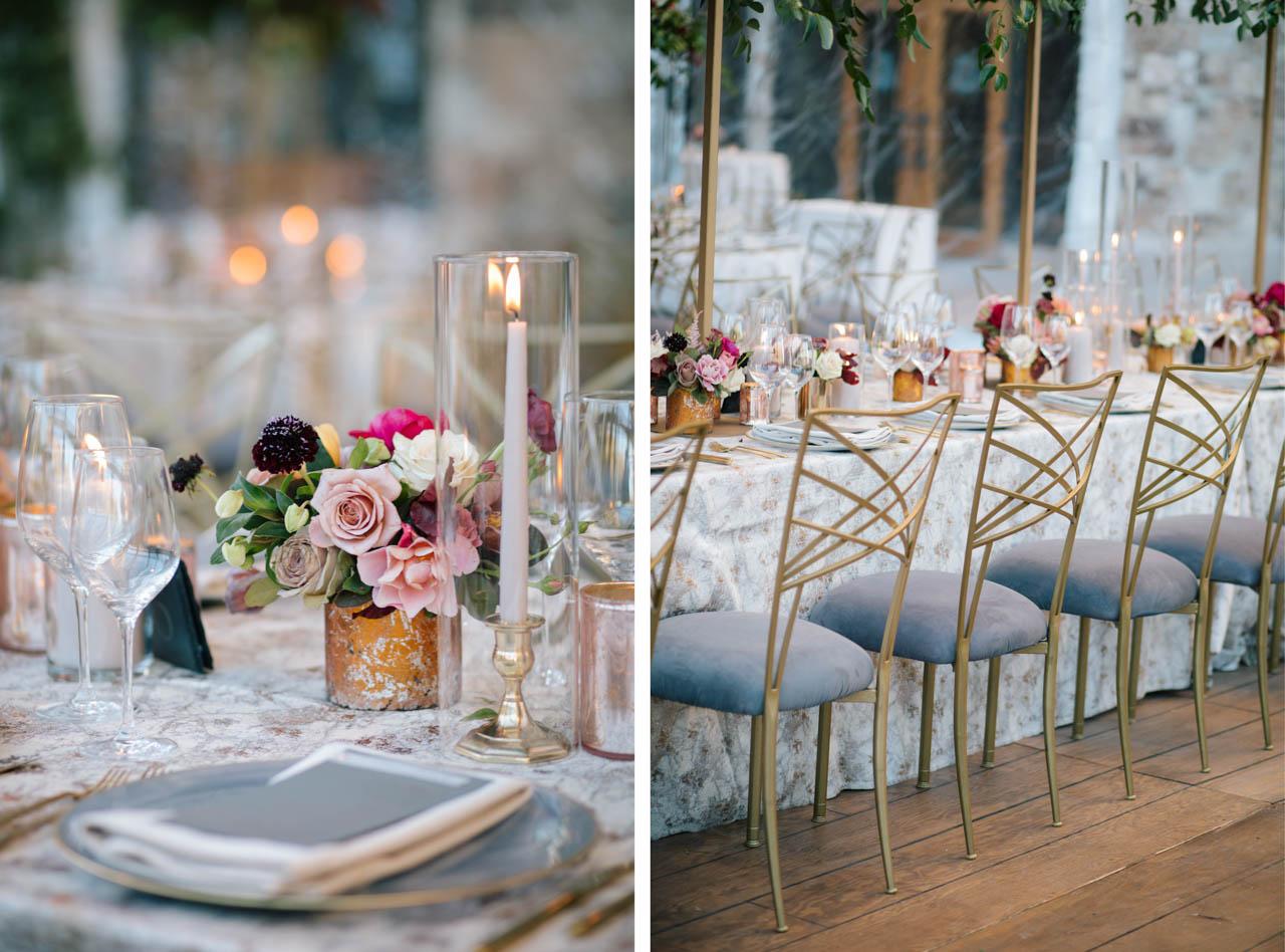 St. Regis wedding reception details.