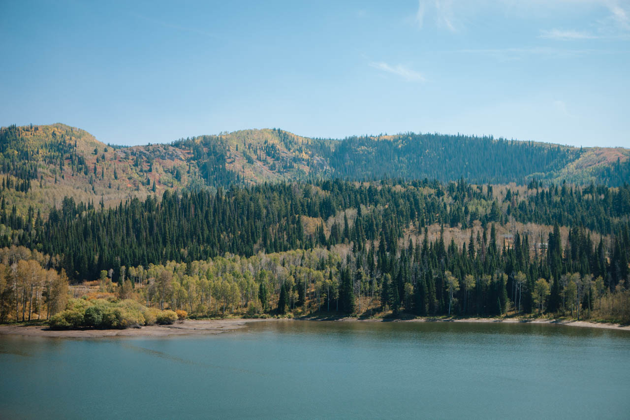 View of the lake from Timber Moose Lodge.